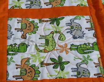 Baby quilt, nursery quilt, baby girl, baby boy, quilted blanket, nursery blanket
