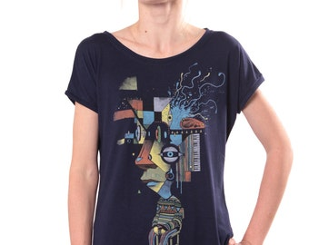 Graphic Tshirt Psychedelic Creative Trippy Festival Exclusive In House Design Street Wear Alternative Clothing Quality Tee - FREE SHIPPING
