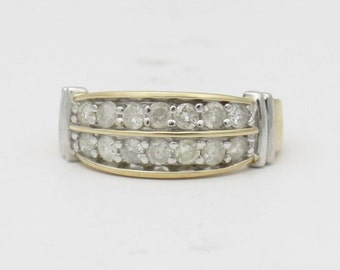 Diamond Wedding Band- 10k Yellow Gold Diamond Jewelry