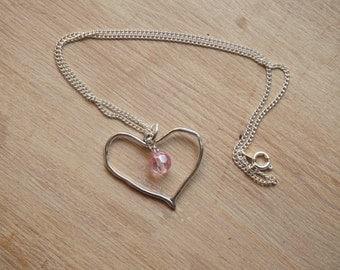 Heart necklace- single bead