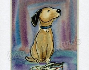 Hand-Painted Greetings Card – Art (ready mounted) blank for any occasion - NOT A PRINT!