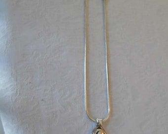 Ornate Silver Pendant Necklace