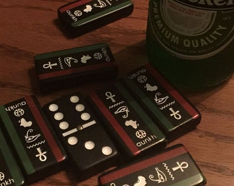 African/Egyptian Inspired Custom Dominoes