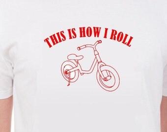 T-Shirt with Chidrens bike logo free shipping within UK