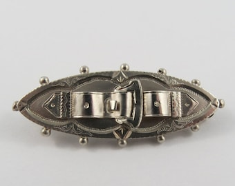 Sterling Silver English Buckle Brooch