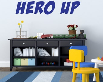 Hero Up Wall Decal Super Hero Squad Decor Vinyl Decal Sticker - Vinyl wall decals avengers