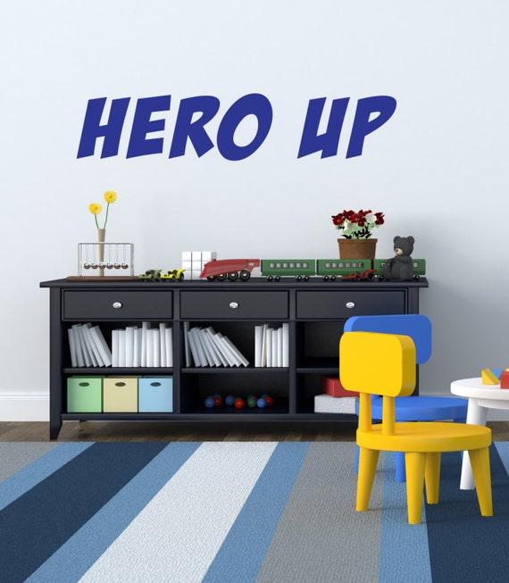 Hero Up Wall Decal Super Hero Squad Decor Vinyl Decal Sticker
