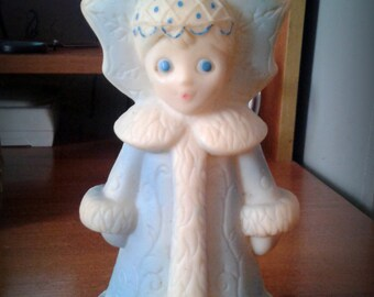 rubber toy, Snow-maiden.blue,  Made in USSR,1970