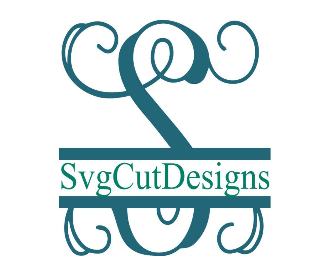 Split P Home Decor: Split Letter SVG Split Monogram Letters Split Alphabet Svg