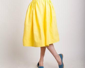Yellow skirt, handmade