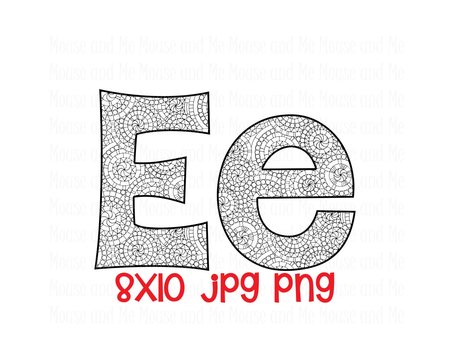 letter e e both uppercase and lowercase separate files