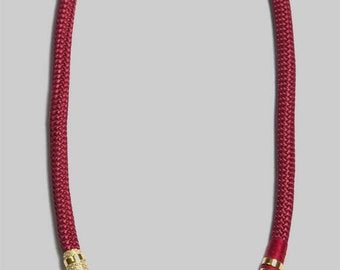 rope necklace red