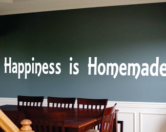 Wall Decor vinyl sticker / vinyl decal / wall decal / wall sticker inspirational quote - Happiness is homemade