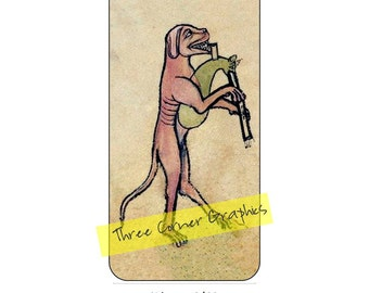 iPhone 6 printable case design (dog playing bagpipe); DIY print at home iPhone accessories for 6 or 6S