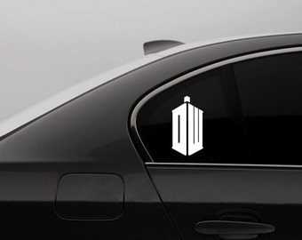 Doctor Who Car Decal -  Doctor Who Laptop Decal Dr Who Time Lord Scifi Nerdy Car Decal