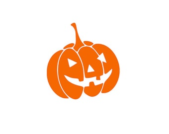 Pumpkin Halloween Decal | Carved Pumpkin | Jack O Lantern | Halloween | Yeti | Die-Cut