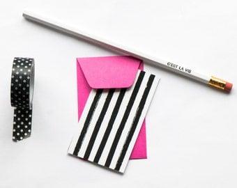 Mini flat cards, mini envelopes, gifts under 10, mini envelopes