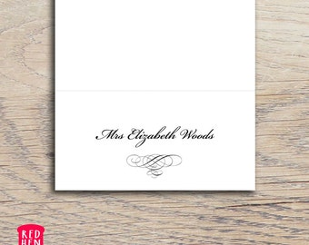 Printable Place Card Template | Downloadable PDF | Type your own names