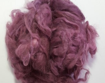 Hand dyed Angora fiber for spinning (.5 ounce)
