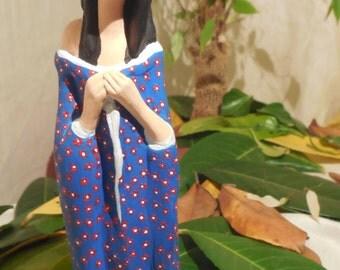 Terracotta geisha statue, geisha in terracotta, gift ideas, ceramic sculpture, ceramic art, original gift idea, Japanese geisha, Geisha