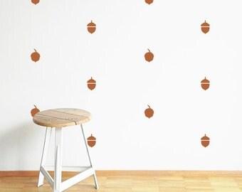 Fall home decor - Wall stickers - Fall decor - Acorns