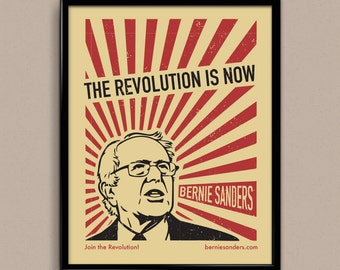 "ON SALE: Revolution Is Now Bernie Sanders Art Print 11"" x 14"""