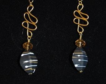 Golden Tangles Earrings