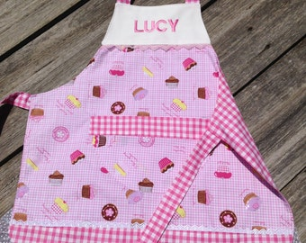 Kids personalized apron / cooking / baking / chef - fully lined