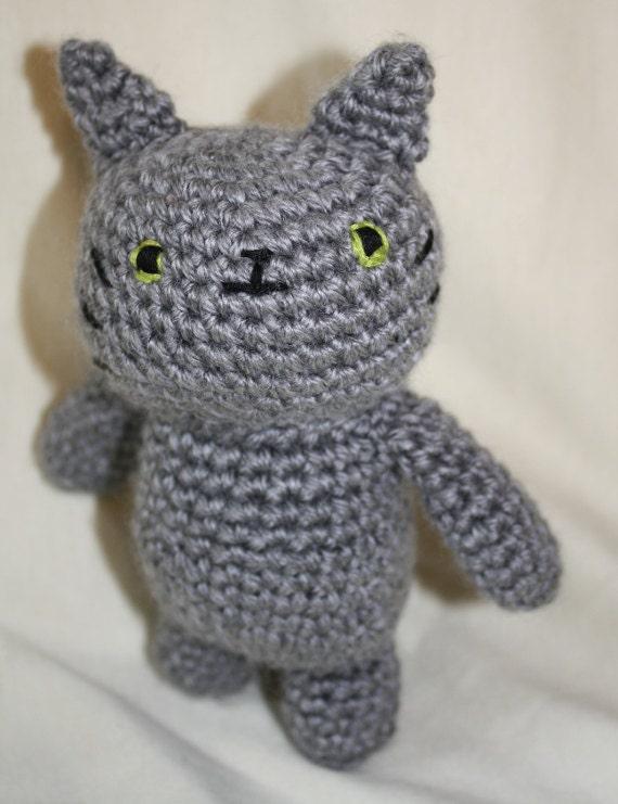 Amigurumi Cat Gray Crochet Toy