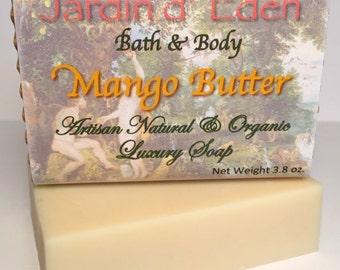 Mango Butter Soap Bar ~ Natural & Organic Ingredients, 4.0 oz.