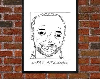 Badly Drawn Larry Fitzgerald - Arizona Cardinalsposter / print / artwork / wall art