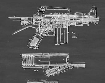 Colt Automatic Rifle Patent - Patent Print, Wall Decor, Gun Art, Firearm Art, Colt Patent, Colt Firearm, Colt Poster, AR-15