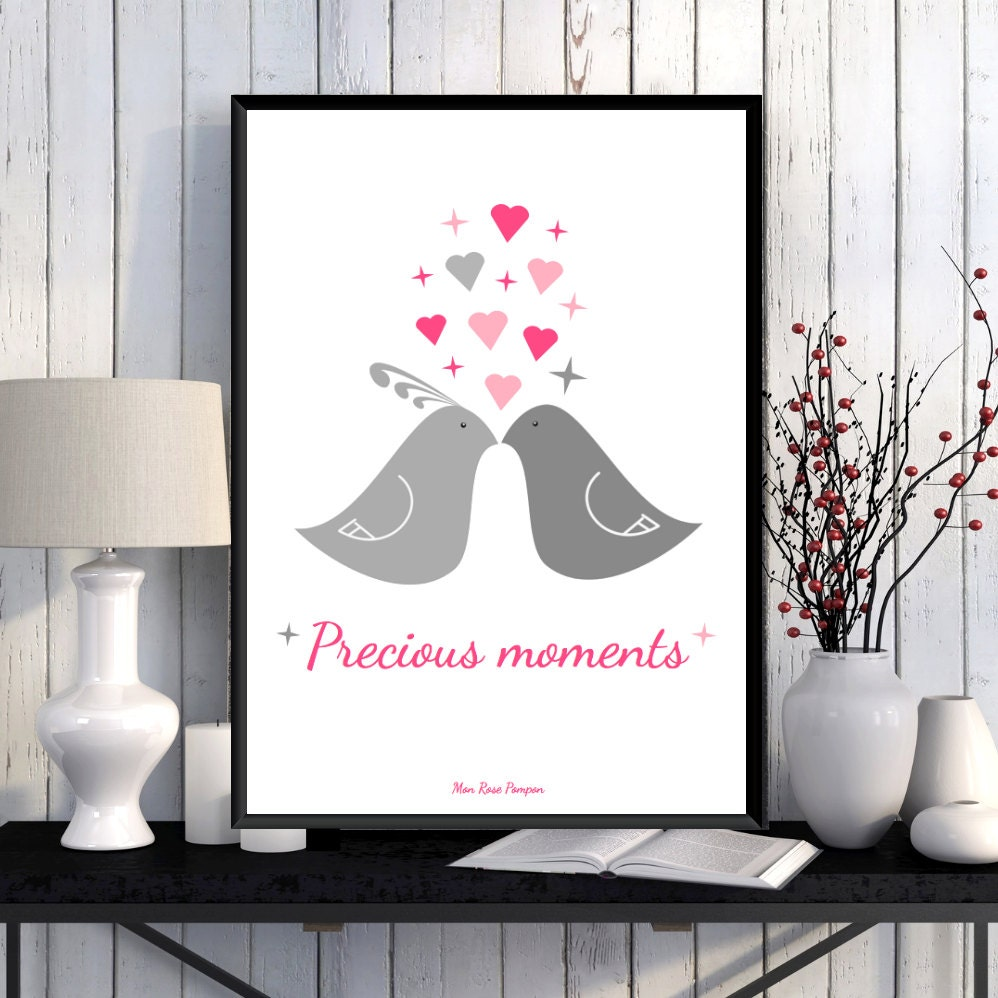 Illustration affiche enfant affiche amour affiche par monrosepompon