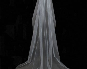 Rhinestone Church Wedding Veil