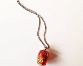 Hotdog necklace
