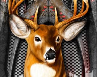 American Flag Deer Hunter Armor Cornhole Wrap Bag Toss Decal Baggo Skin Sticker Wraps