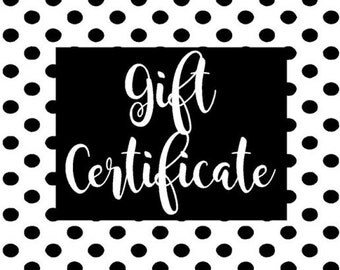 MarylandVinylDecals Gift Certificate