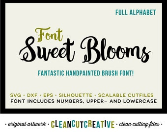 Full Alphabet SVG Fonts Cutfile - Fabulous Handpainted cricut font - Studio3 DXF EPS Silhouette - commercial use clean cutting digital files