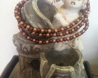 Brown pearls bracelet