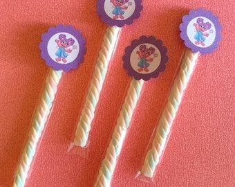 Abby Cadabby Wand Party Favor Sesame Street Goodie Bag Birthday Party - Set of 10