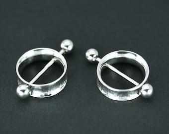 Nipple ring, Nipple piercing, Nipple jewelry, Nipple hoops, Nipple ring silver, Stainless stell bar, Nipple jewelry ring, Gothic piercing