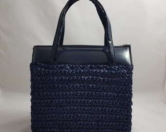 Navy Blue Walborg Japan Handbag