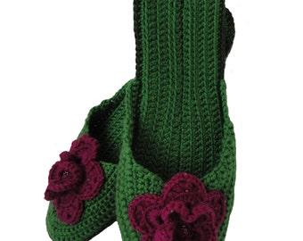 Crochet slippers , flip flops, women's slippers