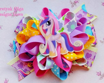 My Little Pony hair bow-My little Pony Hair Clip , My little pony loopy Bow-Princess Pony hair bow