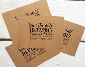 Rustic wedding save the date card, Rustic invitation, modern invitation, wedding save the date