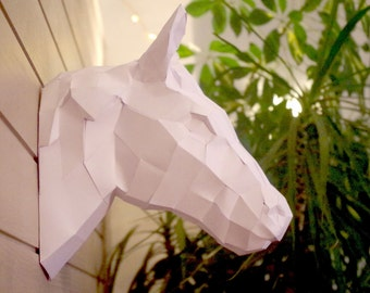 trophy head of horse paper to mount