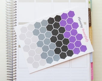 Hexagon Stickers, September Stickers, Planner Stickers, Erin Condren Stickers, Happy Planner Stickers, Functional Stickers, Icon Stickers