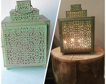 Lantern with Fairy Lights , Candle Holder
