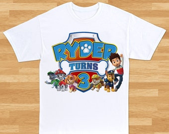 Paw Patrol Custom Birthday T-Shirt - Boys