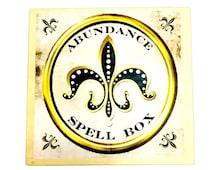 Abundance Spell Box, Wealth Ritual Box, Prosperity Spell Kit, Crystal Grid Spell Kit, Spell Kit, Manifestation Ritual Box, Law of Attraction
